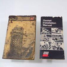 2 Manuals Fel Pro Gasket Installation 1993 and Monitor 86 Instruction Manual
