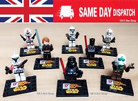 8 STAR WARS DC Super Hero Darth Vader Stormtroop Figure Set Fit Lego Cake topper