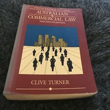 CLIVE TURNER, AUSTRALIAN COMMERCIAL LAW. NINETEENTH EDITION. 045521073X
