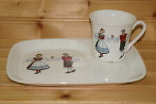Figgjo Norway Hardanger Dancers Snack Plate with Cup