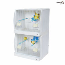 Plastic Double Finch - Canary - Budgie ECT Breeding Cage  Twin Pack