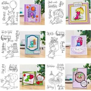 Child Dinosaur Shape With Words Theme Stamps For DIY Scrapbooking Craft Cards