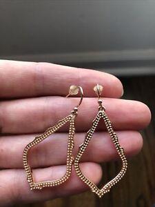 Kendra Scott Sophia rose gold drop earrings