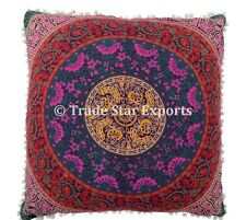 Indian Ethnic Large Cotton Euro Sham Pillow Cover 26x26 Christmas Gift Cushions
