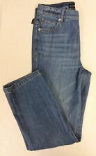Express Women's Size 8 Straight Crop HIGH RISE Jeans Precision Fit Retail $69.90