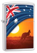 ZIPPO LIGHTER AUSSIE FLAG & LANDSCAPE KANGAROO (98914) GIFT BOXED - AU STOCK !