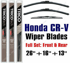 2012-2016 Honda CR-V Wiper Blades 3pk Front/Rear - 19260/160/30130