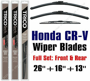 2012-2016 Honda CR-V Wiper Blades 3pk Front/Rear - 19260/160/30130