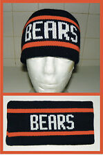 New Chicago Bears vintage 80's knit Headband Ditka sweater winter pom hat