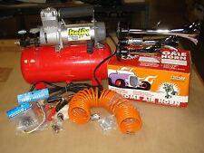 AutoLoc Midnight Express Train Horn System for Car Truck Compressor Tank Trumpet