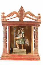 St. CHRISTOPHER CARRYING  CHILD JESUS ANTIQUE SHRINE