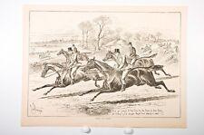 "scène de chasse anglaise, fin XIX° siècle,""fresh and eager"""