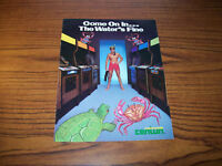 CENTURI SWIMMER VIDEO ARCADE GAME PROMO SALES FLYER 1980