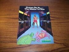 CENTURI SWIMMER VIDEO ARCADE GAME PROMO SALES FLYER 1980