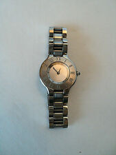"VINTAGE AUTHENTIC ""CARTIER"" LADIES WRISTWATCH with STAINLESS CASE & BAND"