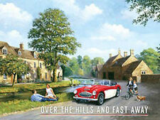 Austin Healey 3000, Classic British Sports Car, Cotswolds, Small Metal/Tin Sign