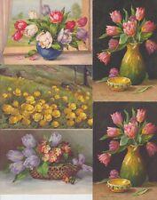 TULIPS FLEURS  FLOWERS 26 Cartes Postales Mostly Pre-1940