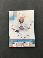 2010-11 UPPER DECK THE CUP JORDAN EBERLE ROOKIE ENSHRINEMENTS AUTO #ed 25/50