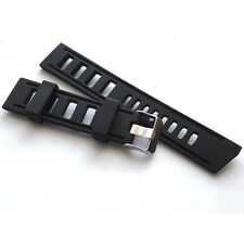 22MM BLACK RUBBER DIVER WATCH STRAP BAND SILICONE IS OMEGA ISOFRANE STYLE