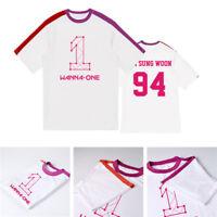 KPOP Wanna One T-shirt Splice Tshirt Lee Dae Hwi Kang Daniel Tee LAI KUAN LIN