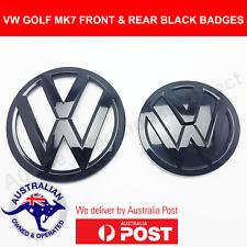 Volkswagen VW MK7 Gloss Black Badges Emblems Front & Rear GTI GOLF R MKVII AUS