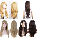 "Women Nature Elegant Layered Straight Wavy Full Wig Heat Resistant Wigs 23"""