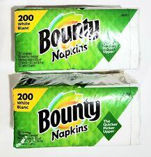Lot x 2 , Bounty 200 ct. Pack Paper Napkins (400 Napkins Total)