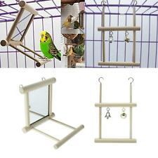 2 Pack Bird Cage Toys Parrot Swing Hanging Toys Birds Mirror Toy with Perch