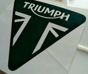 Pair of  TRIUMPH LOGO Decals/stickers. 22 colours, 9cm, Motorcycle