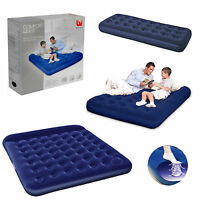 Single Double Queen King Size Camping Mattress Blow Pump Up Inflatable Air bed