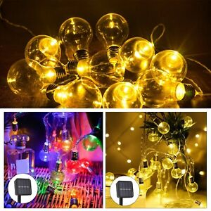 10 LED Solar Powered String Fairy Lights Outdoor Garden Wedding Party Xmas