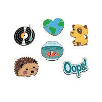 1X HOT Cute Cartoon Brooch Enamel Shirt Label Pin Collar Pins Badge Jewelry Gift
