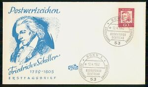 Mayfairstamps GERMANY FDC 1962 COVER FRIEDRICH V SCHILLER wwm46801