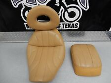 Corbin seat / with pillion and driver backrest for Harley Davidson Softail
