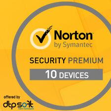 Norton Security Premium 2020 10 dispositivos 1 año PC MAC Internet 2019 EU ES