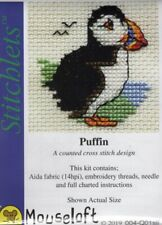 14ct Counted Cross Stitch Kit - Mouseloft - Stitchlets - Puffin Counted