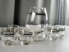 7 piece Glass Vintage Handblown Bar Glassware with