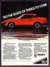 """1976 Triumph TR7 TR-7 Coupe photo """"Shape of Things to Come"""" print ad"""