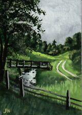 "New Listingaceo original acrylic painting ""Lane by the Creek"" by J. Hutson"