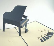 PIANO  pop-up greeting card (unique & beautiful decor/art/gift)