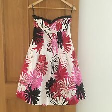 LADIES FLORAL PRINT SUMMER DRESS BY WAREHOUSE - SIZE UK 12