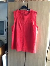 red embroiderie anglais style tunic top (18)