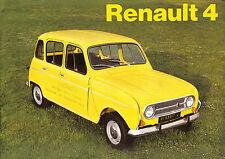 Renault 4 Standard & De Luxe Estate & Van 1973-74 Original UK Sales Brochure