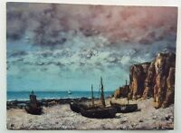 Boat on a Beach Gustave Courbet Vintage Postcard National Gallery of Art