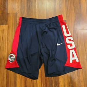 Nike Team USA Olympic Basketball Blue Red Practice Shorts AT5036-451 Men's XXL