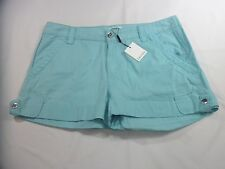 Calvin Klein Women's Teal or Light Blue Colored Shorts Size 12 (ID#3968)