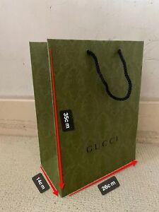 100% Authentic Gucci Paper Carrier Bag 35*26*14cm