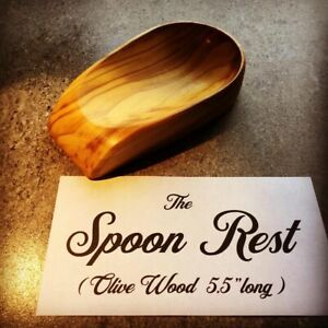 Spoon Rest Olive Wood