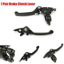1 Pair Black Adjustable Brake Clutch Lever Motorcycle Dirt Bike 22MM Handlebar