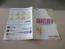 >> SNATCHER KOJIMA KONAMI ADVENTURE PC ENGINE CD A3 FLYER CHIRASHI HANDBILL! <<